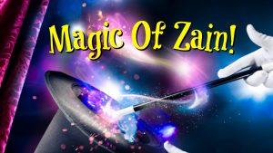 magic of zain logo magicians wand purple