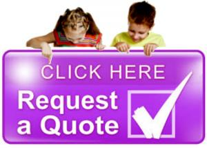 purple button quote for kids birthday party entertainers