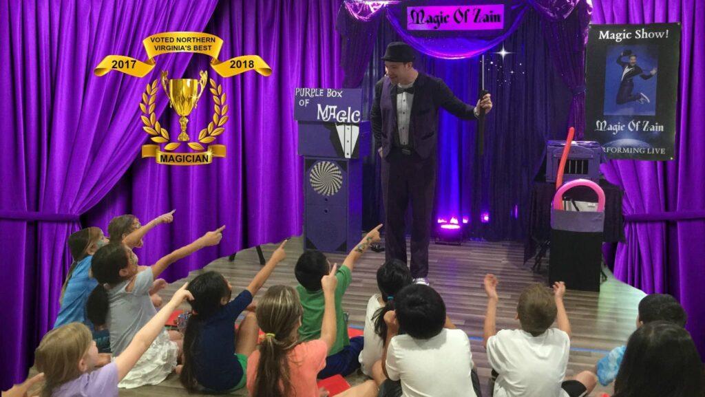 kids party magician zain