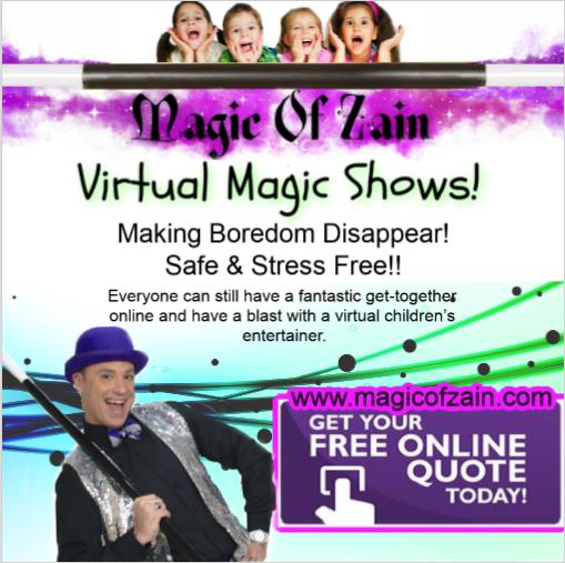 virtual kids party magic show